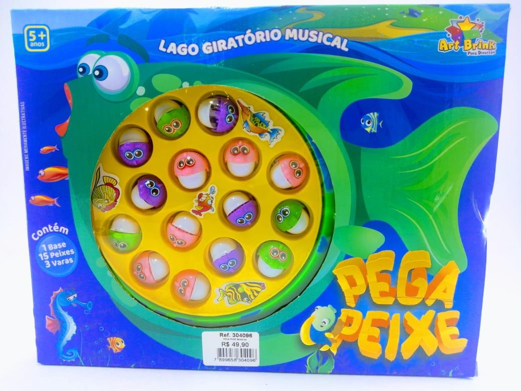 Pega Peixe Lago Giratório Musical