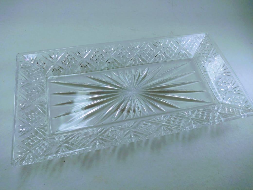 Petisqueira Retângular de vidro