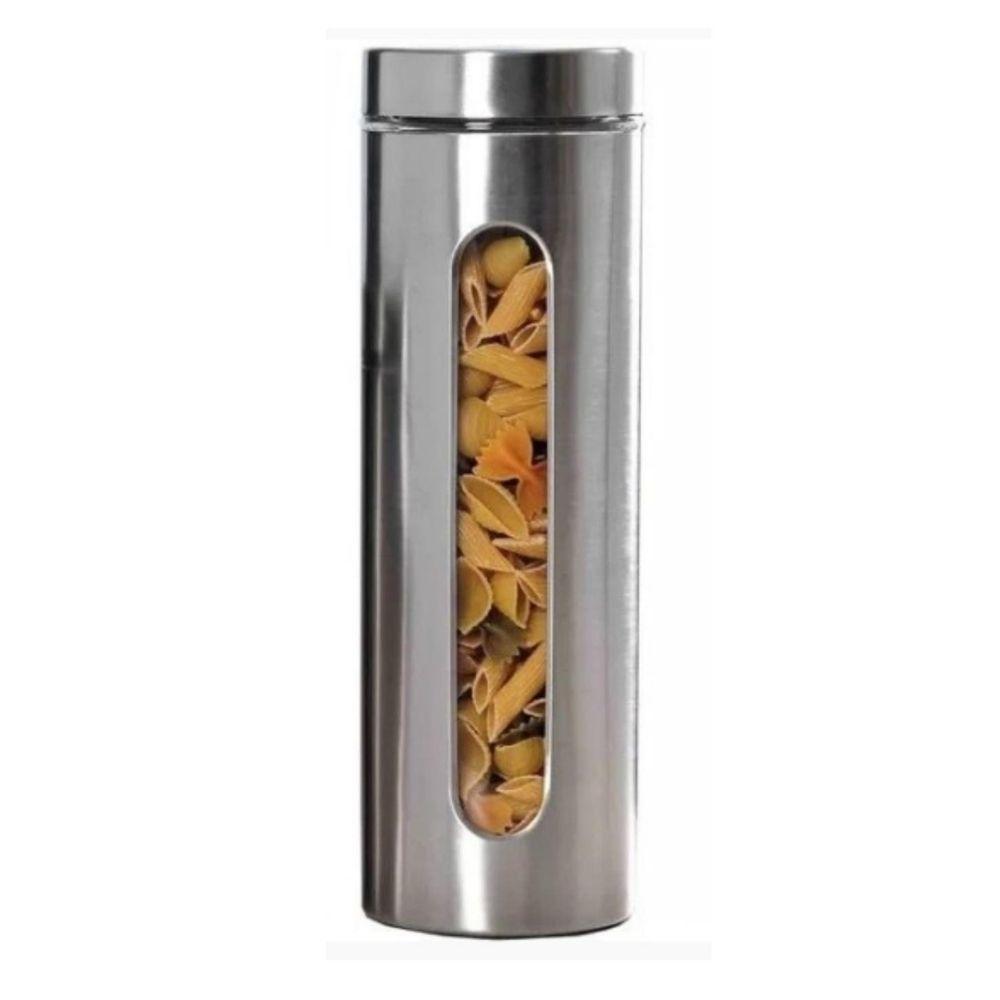 Pote Hermético Inox com Visor 1,20ml