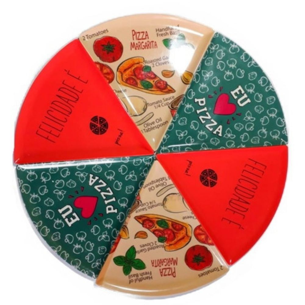 Prato de Pizza Felicidade