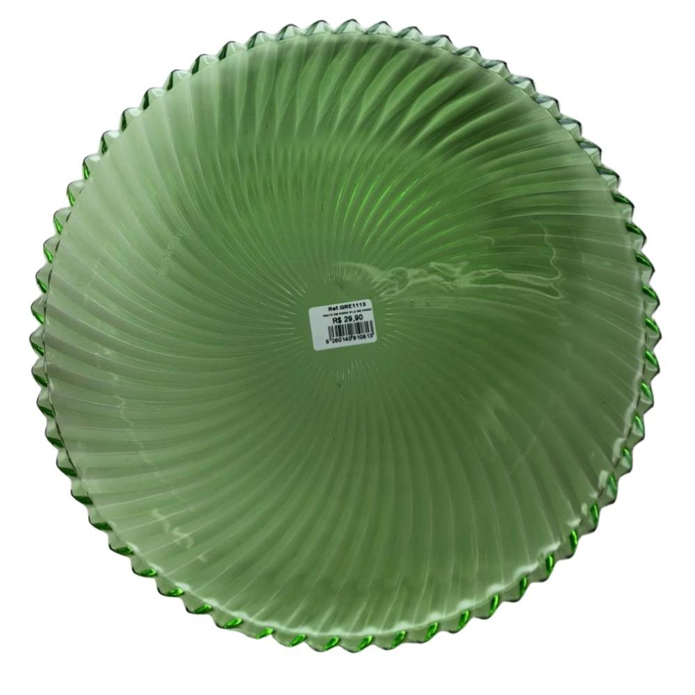 Prato em Vidro Verde Tropical 31,5cm