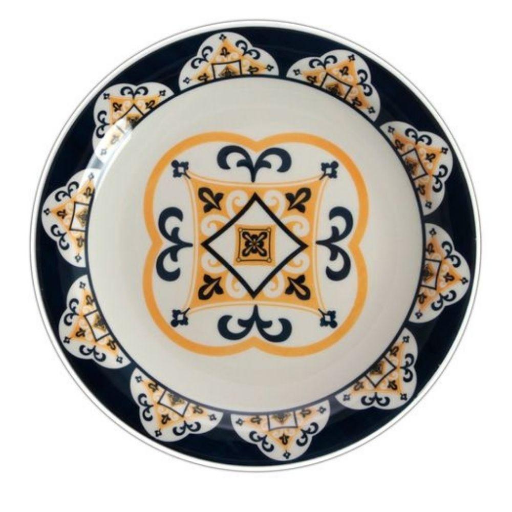 Prato Raso Ceramica 26cm Floreal Sao Luiz Oxford