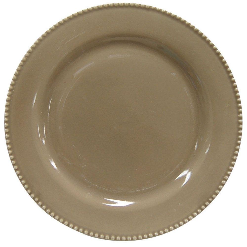 Prato Raso Corona Perla Cinza 27 cm