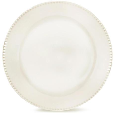 Prato Raso Perla Branco 27cm Corona