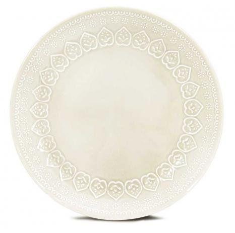 Prato Raso Relieve Branco 26 cm