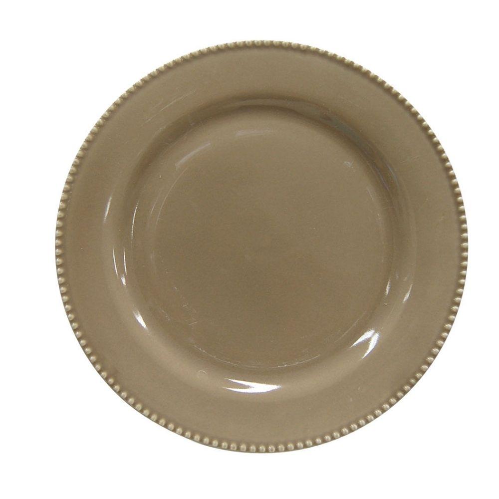 Prato Sobremesa Perla Cinza 20cm