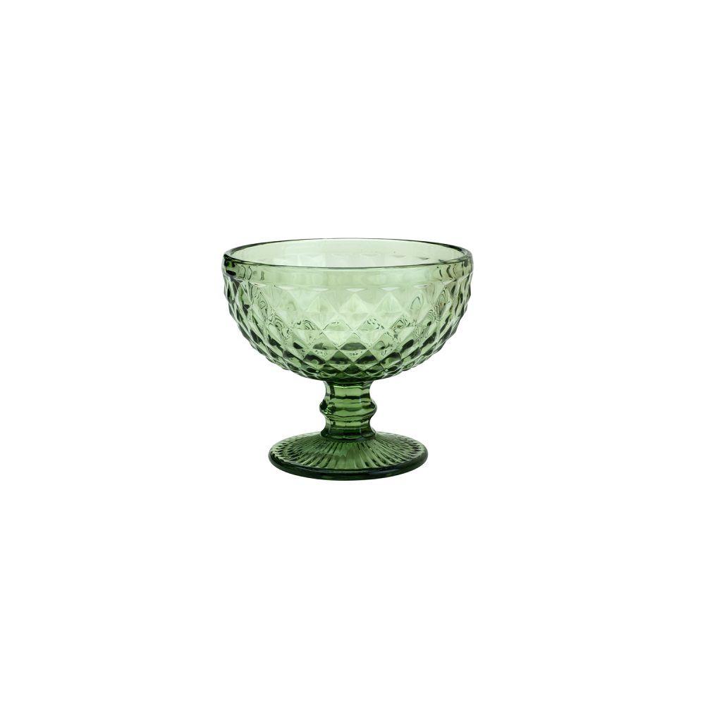 Taça Coup para Sobremesa Bico de Abacaxi Cor Verde  310ml