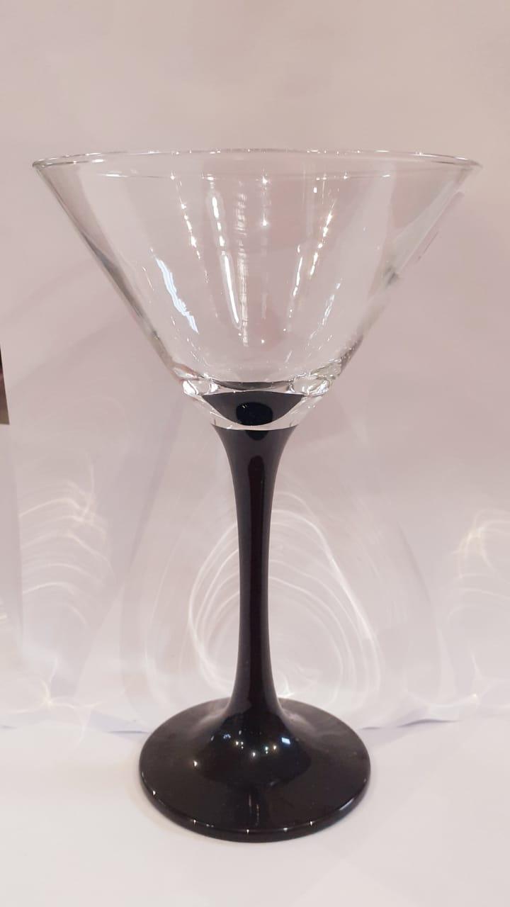 Taça de Martini base cor preta 280 ml
