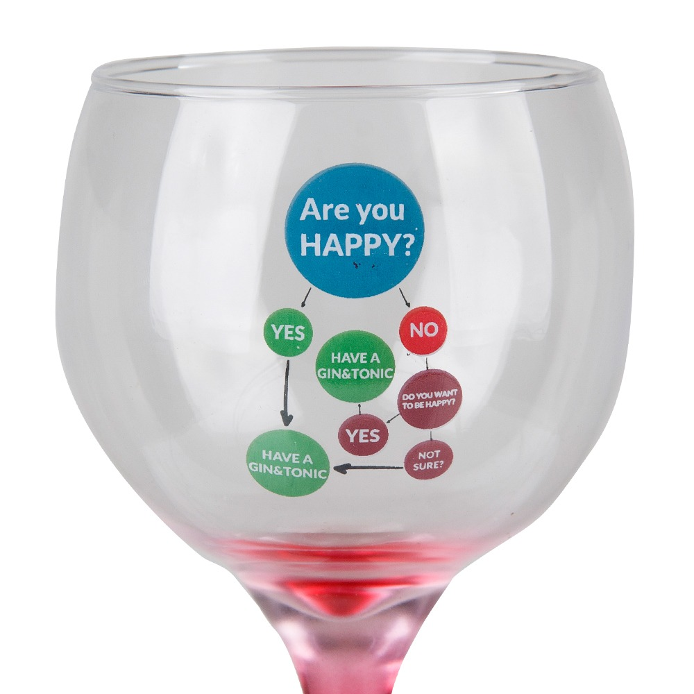 Taça Gin Tônic Are You Happy 600ml