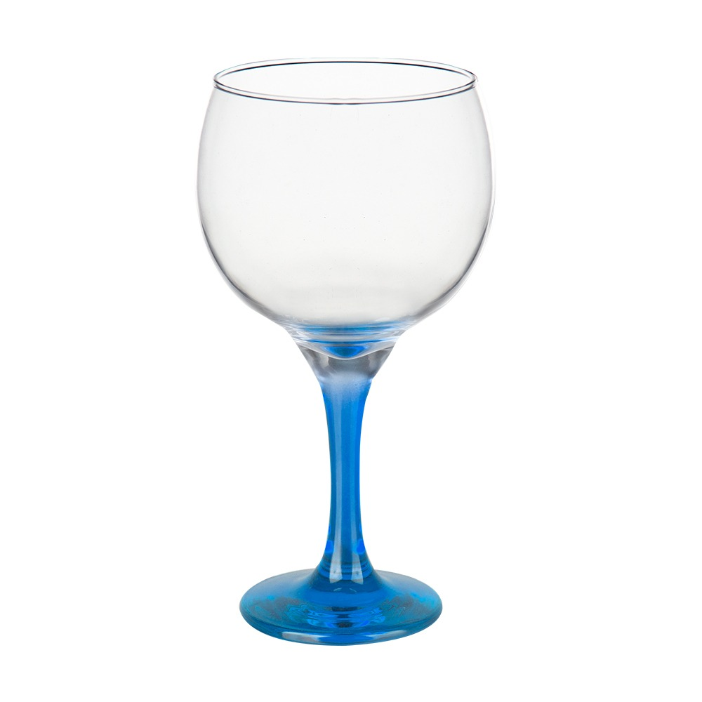 Taça Gin Tônic em Vidro Base Color Azul Bora Bora 600ml