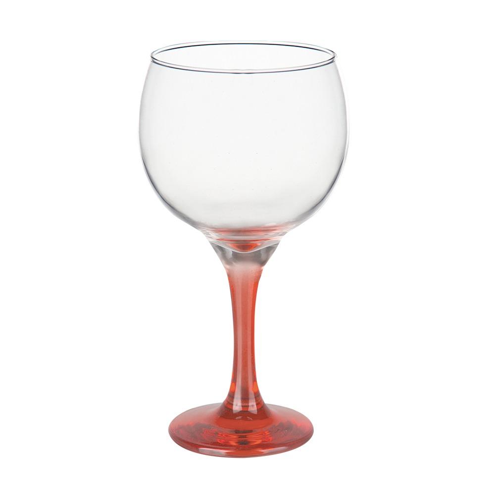 Taça Gin Tônic em Vidro Base Color Laranja Bora Bora 600ml