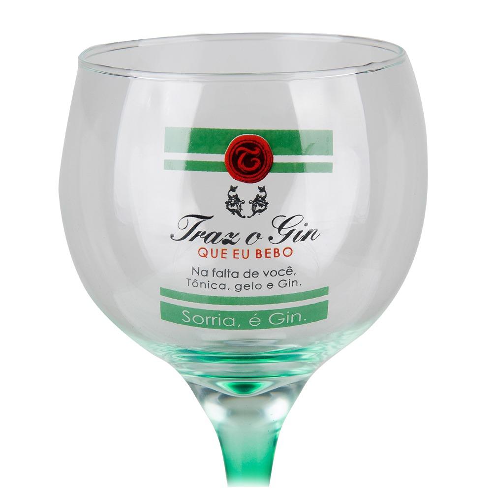 Taça Gin Tônic em Vidro Traz o Gin 600ml