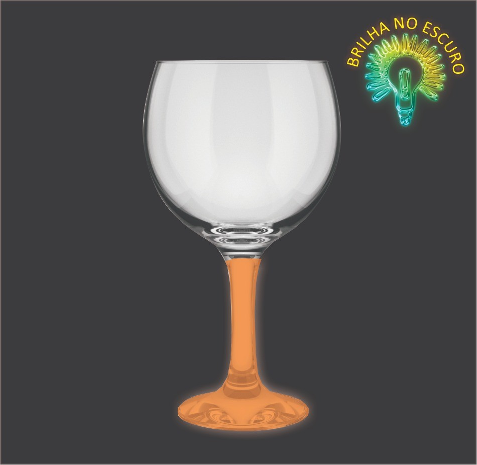 Taça GinTônic Base Color Laranja Neon 600ml