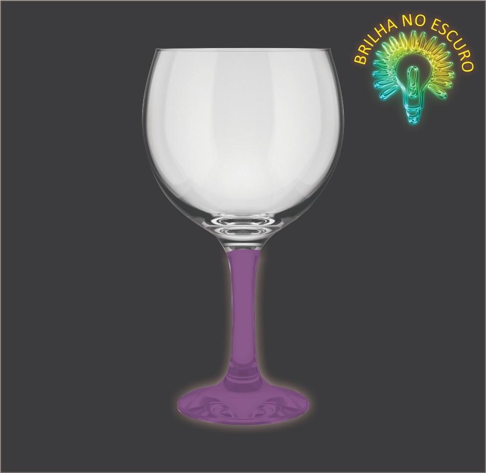 Taça GinTônic Base Color Lilás Neon 600ml