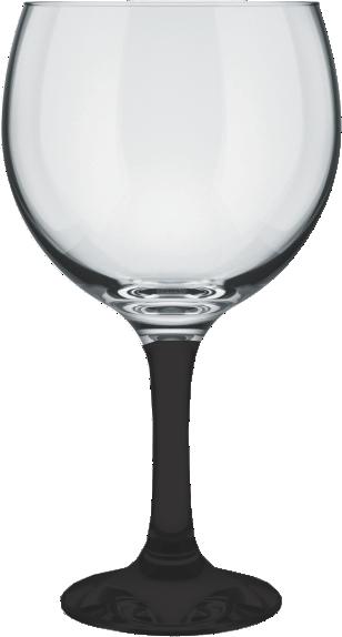 Taça GinTônic Base Color Preto 600 ml