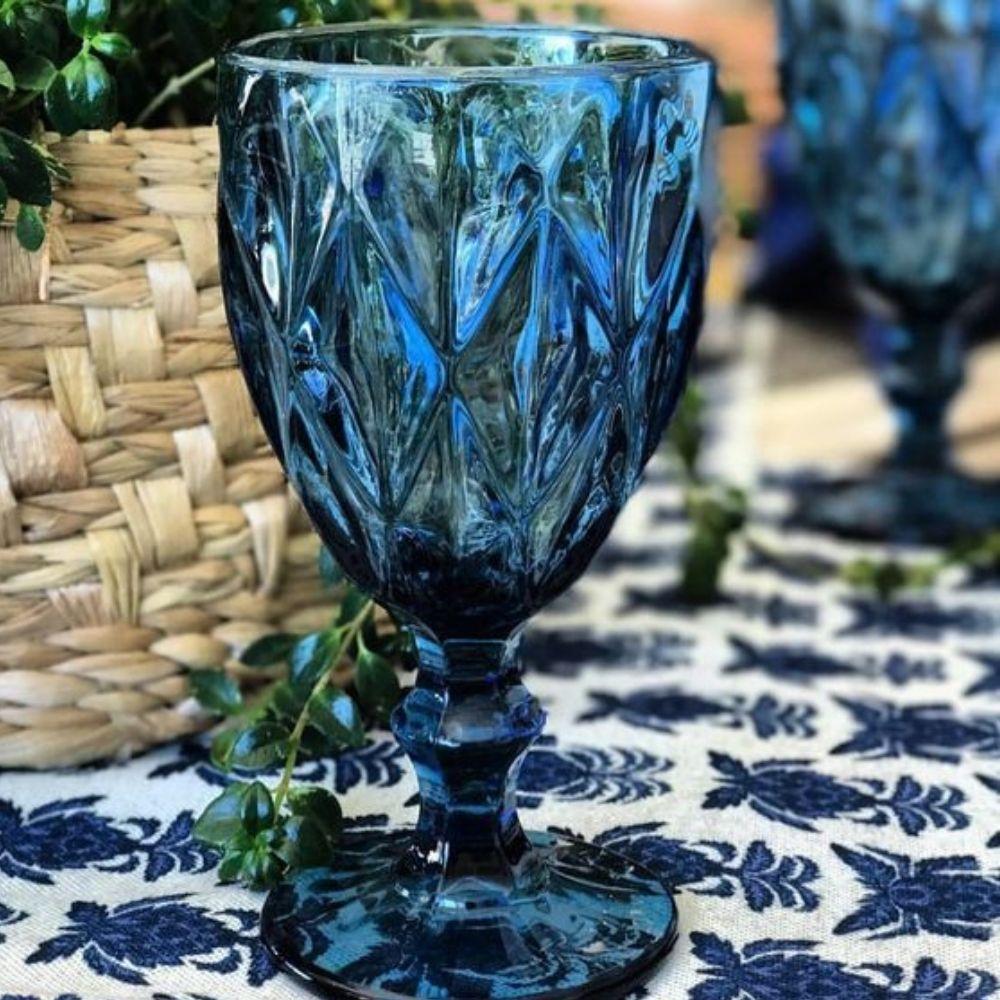 Taça Para Água Diamond 260Ml Lyor - Azul