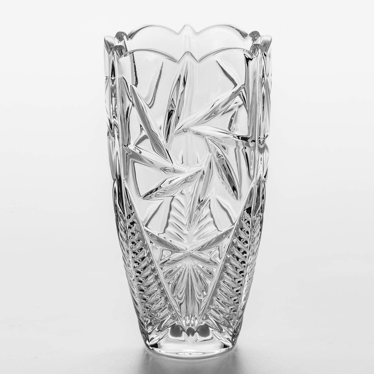 Vaso em Cristal Ecológico Bojudo Pinwheel 30 cm