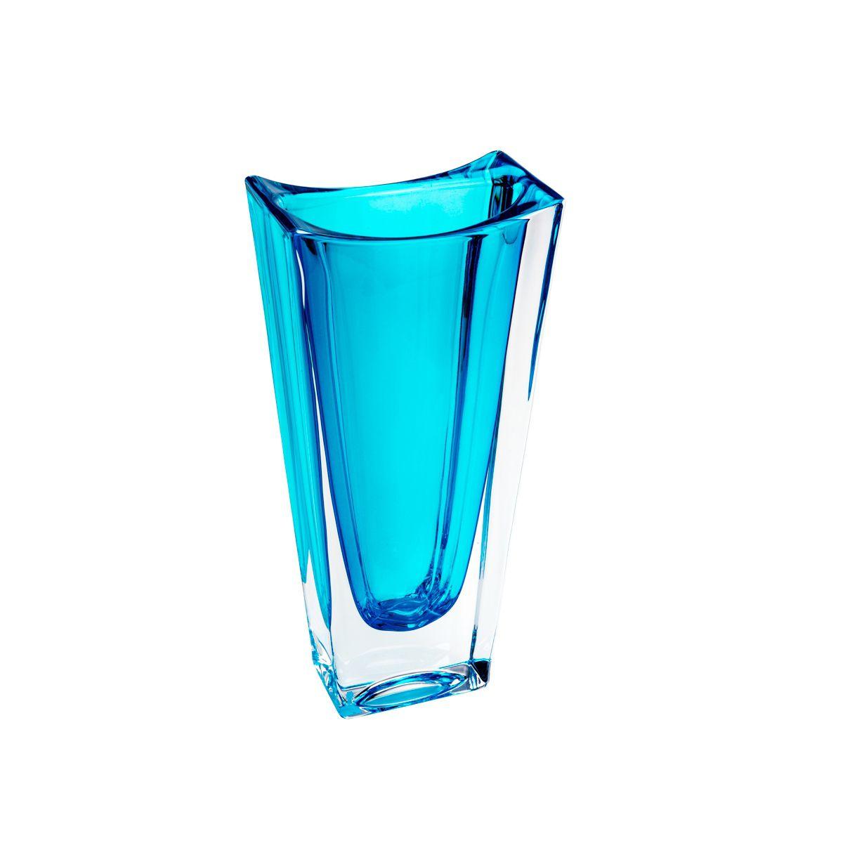 Vaso de Cristal Ecológico Azul  Turquesa  Bohemia