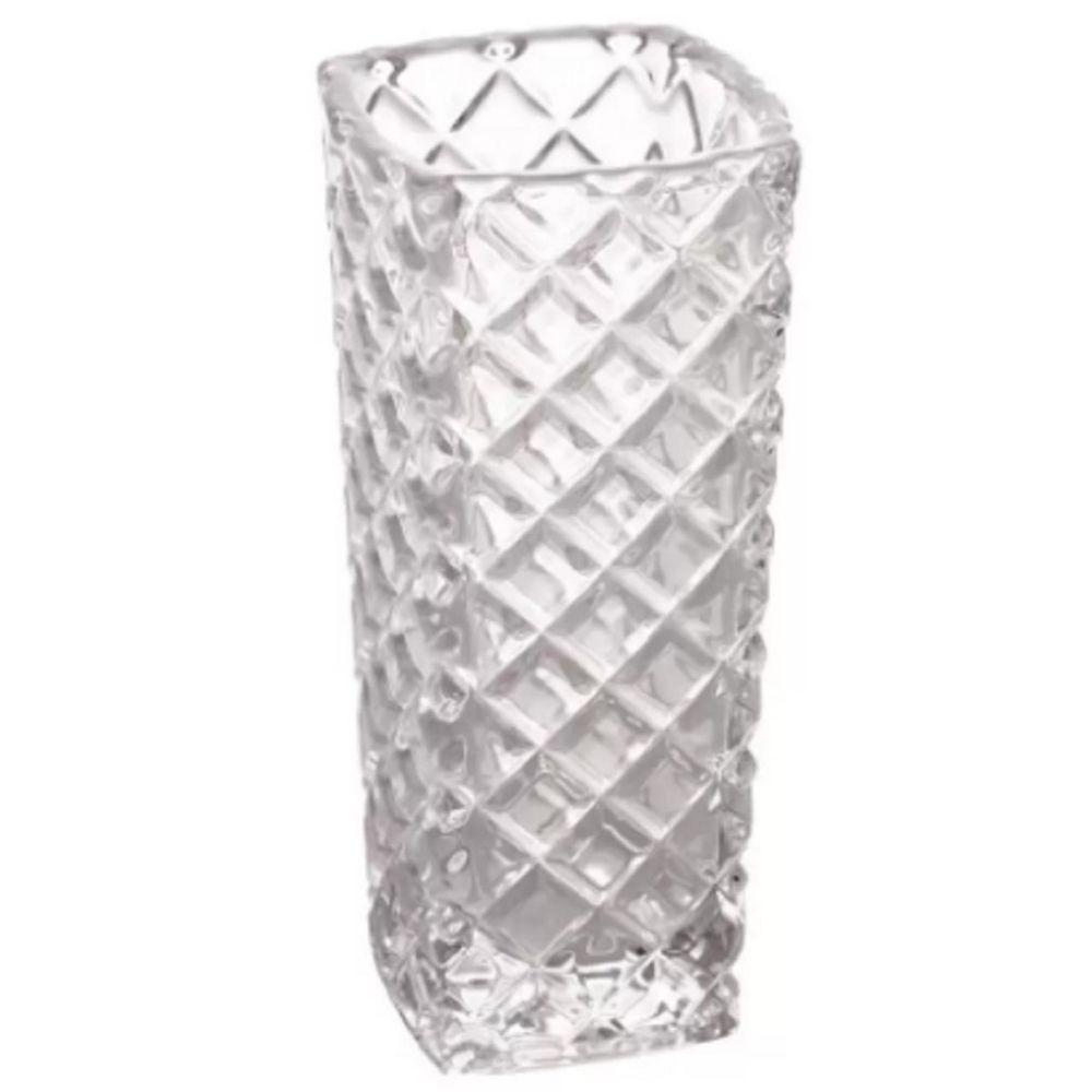 Vaso De Vidro em Alto Relevo 15cm Decorativo