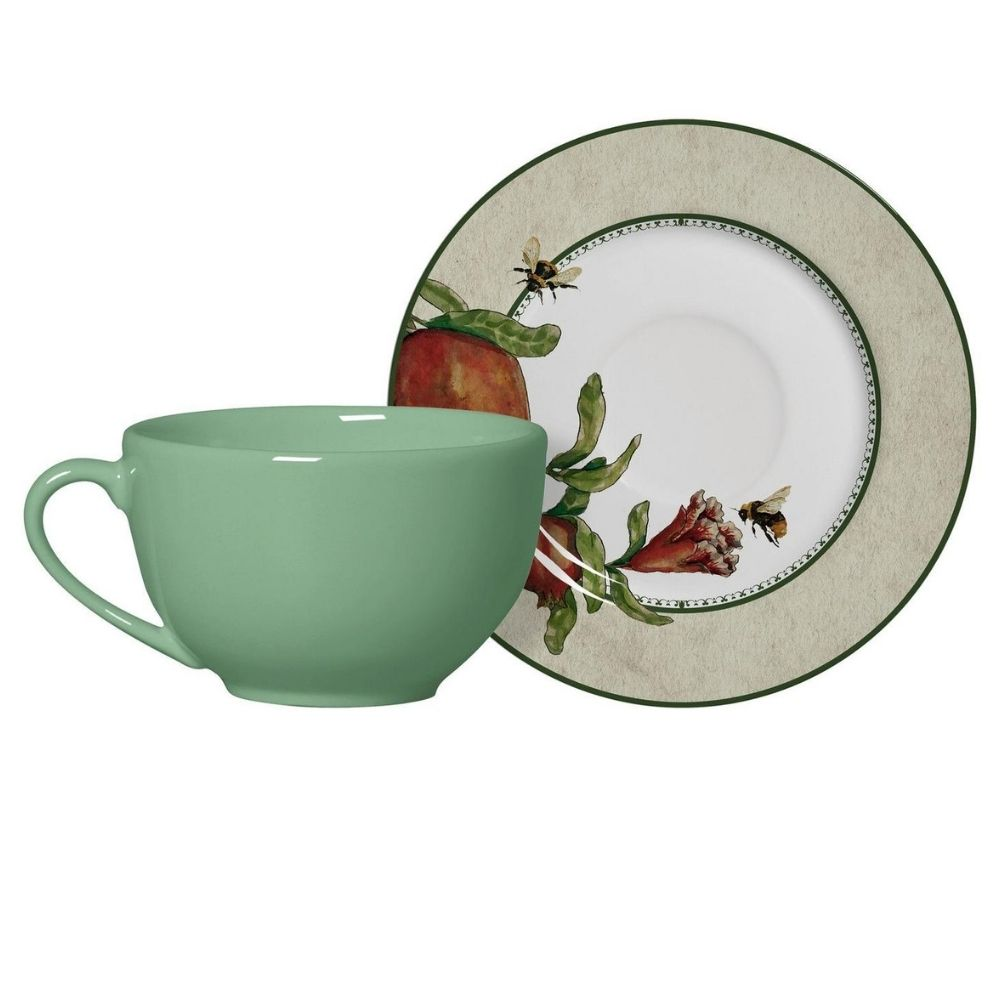 Xícara de Chá com Pires Romã