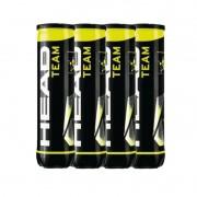 Bola de Tênis Head Team 4 bolas - Pack com 4 tubos