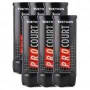 Bola de Tênis Tretorn Pro Court - Pack com 6 tubos
