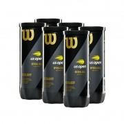 Bola de Tênis Wilson US Open Extra Duty - Pack com 6 tubos
