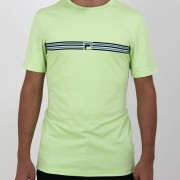 Camiseta Fila Masculina Box Stripes Verde Lima