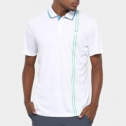 Polo Fila Masculina Aztec Box Stripes Branca