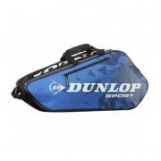 Raqueteira Dunlop Tour para 6 Raquetes - Azul e Preta