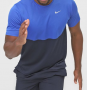 Camiseta Nike Dry-Fit Breathe Run Masculina Azul e Marinho