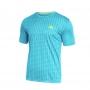 Camiseta Wilson Rush Masculina Turquesa