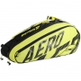 Raqueteira Babolat RH X 6 Pure Aero Térmica Preta e Amarela