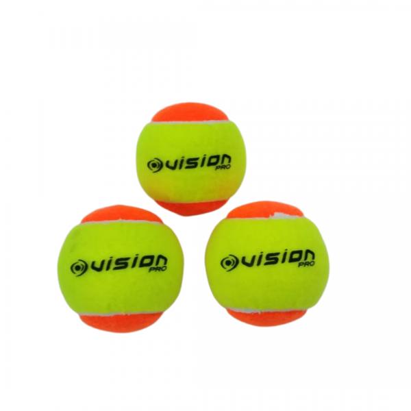 Bola de Beach Tenis Vision - Kit com 3 unidades