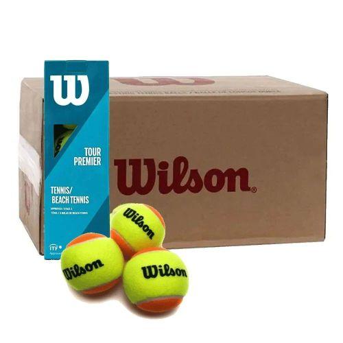 Bola de Beach Tennis Wilson Tour Premier - Caixa com 24 Tubos