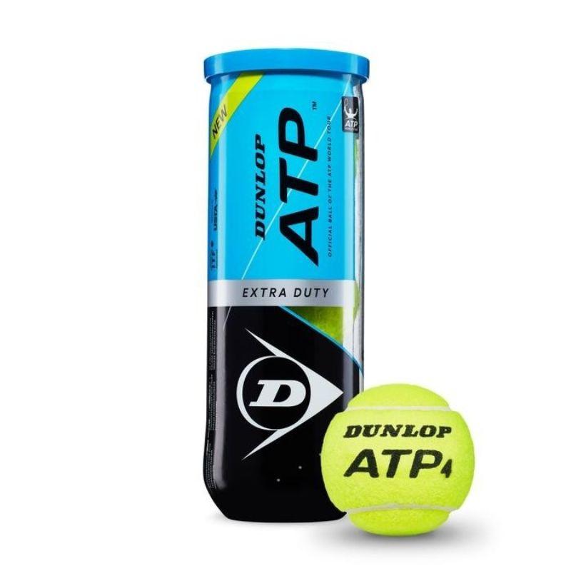 Bola de Tênis Dunlop ATP Extra Duty - Tubo 3 bolas