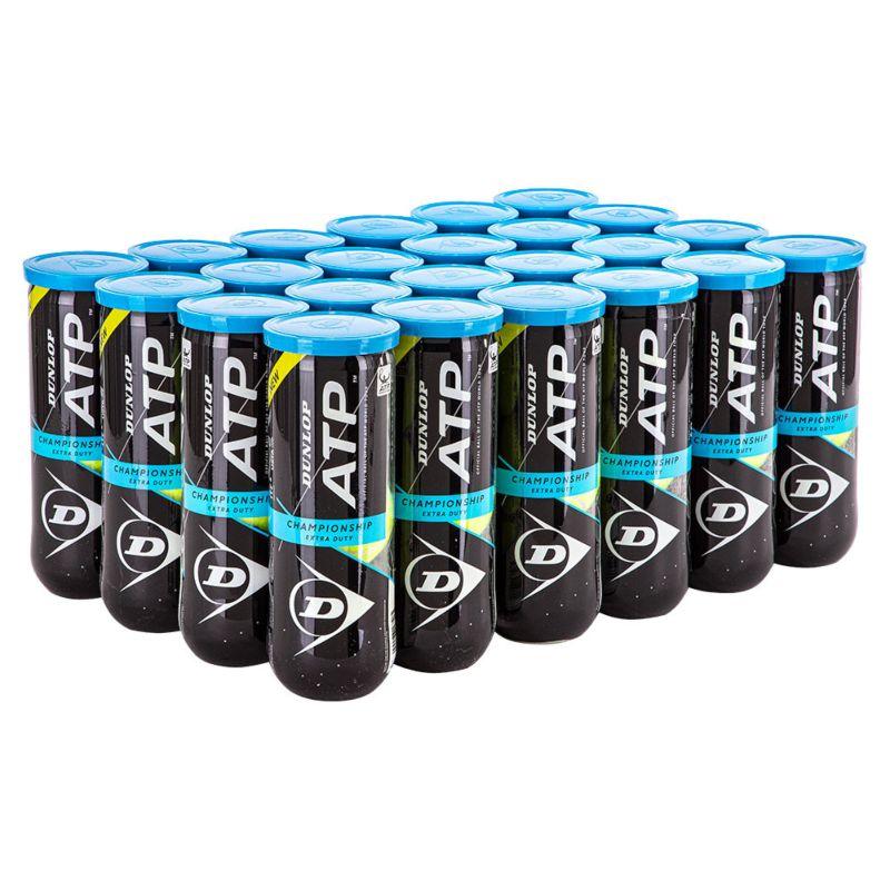 Bola de Tênis Dunlop Championship ATP - Caixa com 24 tubos