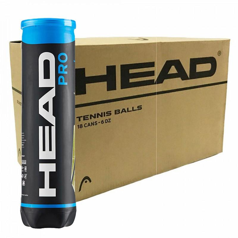 Bola de Tênis Head Pro 4 bolas - Caixa com 18 tubos