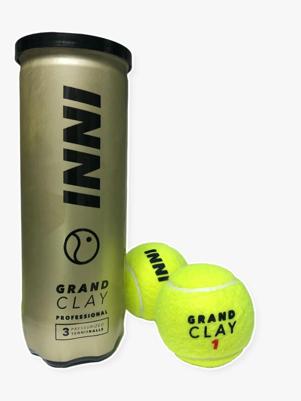 Bola de Tênis Inni Grand Clay - Tubo 3 bolas
