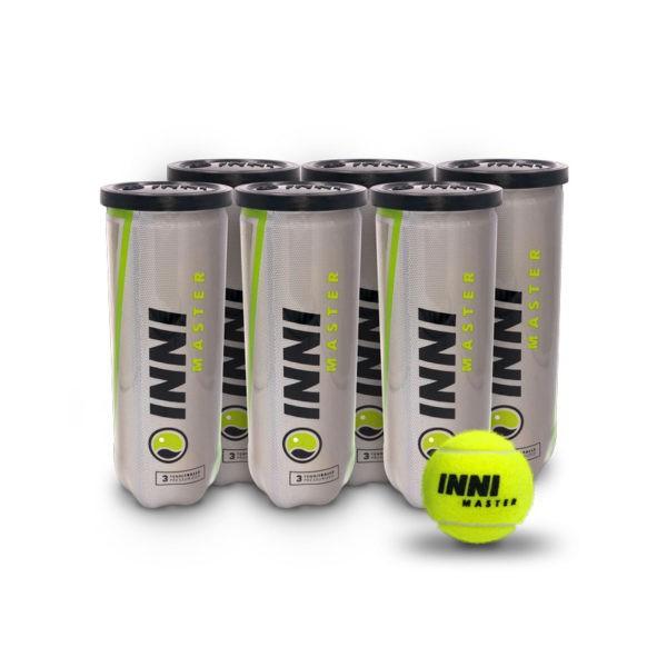 Bola de Tênis Inni Master - Pack com 6 tubos