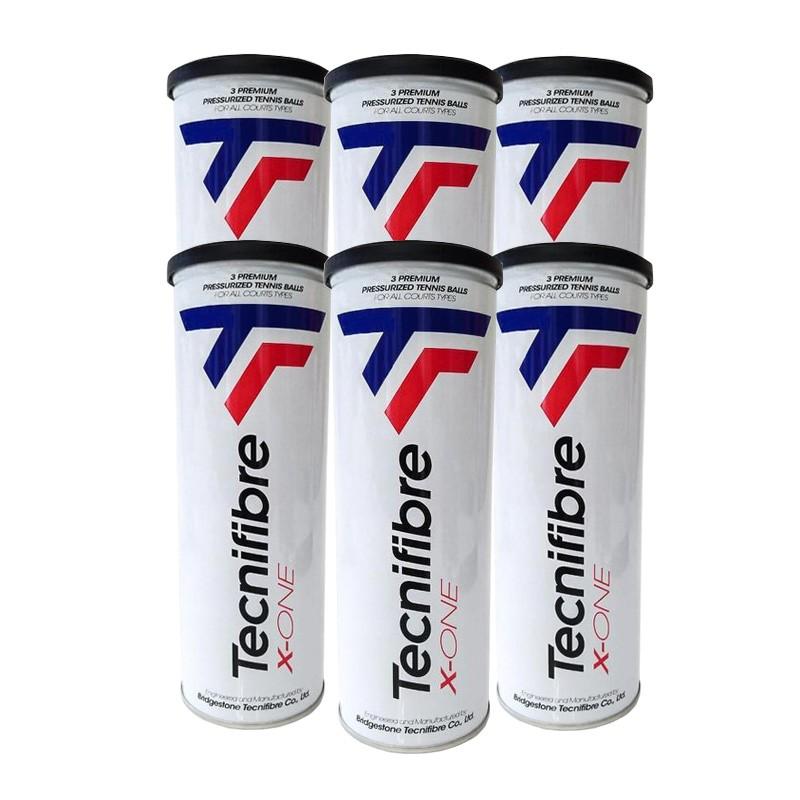 Bola de Tênis Tecnifibre X-One - Pack com 6 tubos