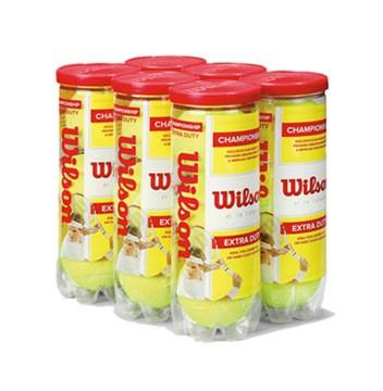 Bola de Tênis Wilson Championship Extra Duty - Pack com 6 tubos