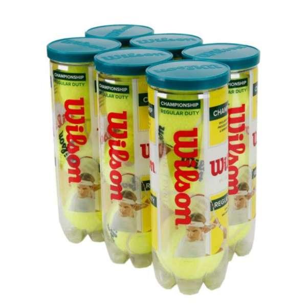 Bola de Tênis Wilson Championship Regular Duty - Pack com 6 tubos