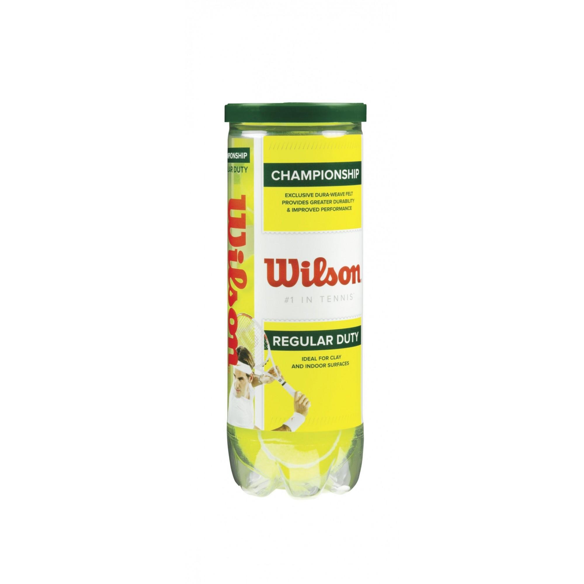 Bola de Tênis Wilson Championship Regular Duty - Tubo 3 bolas
