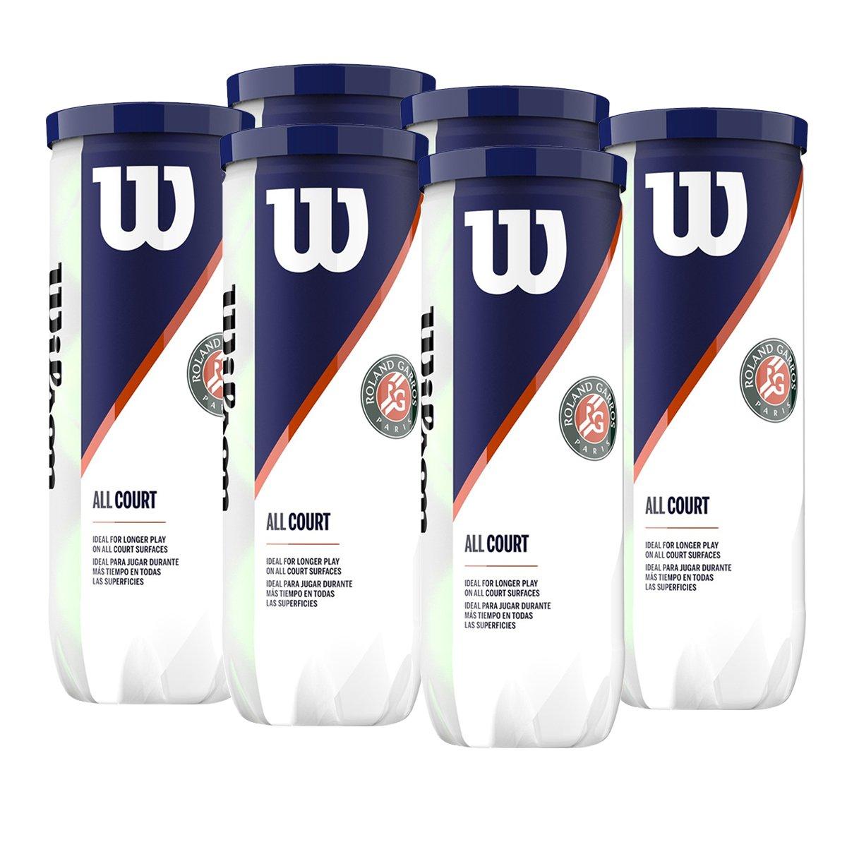 Bola de Tênis Wilson Roland Garros - Pack com 6 tubos
