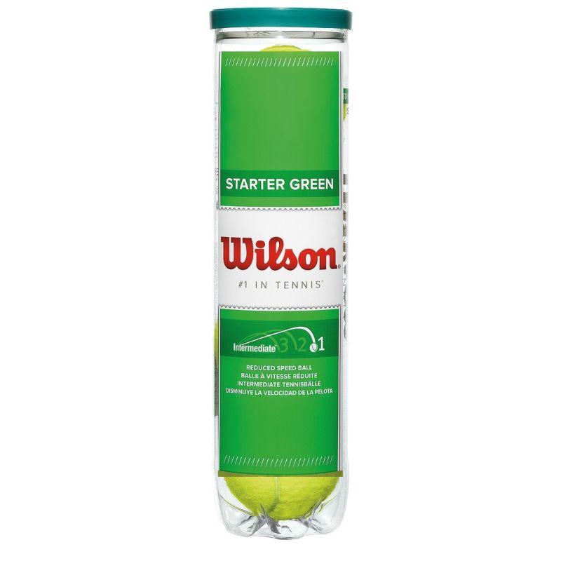 Bola Wilson Starter Play Ball Verde Estágio 1 - Tubo 4 bolas