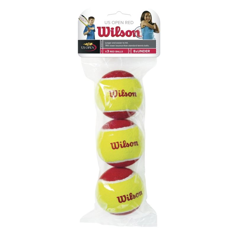 Bola Wilson Starter Vermelha Estágio 3 - 3 unidades