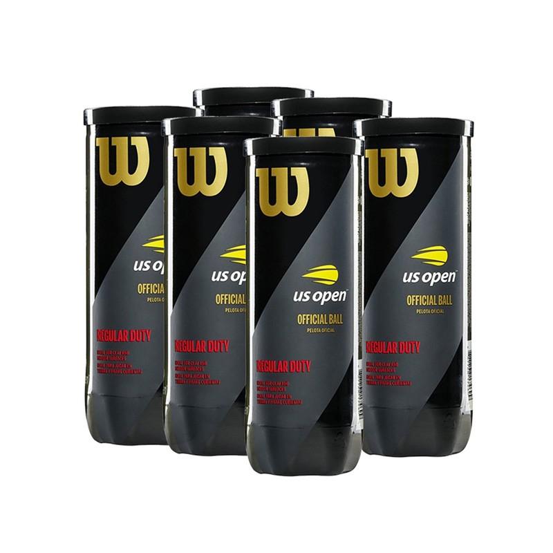 Bola de Tênis Wilson US Open Regular Duty - Pack com 6 tubos