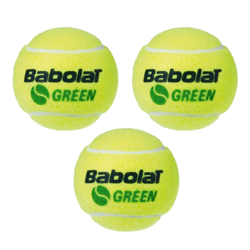 Bola Soft 1 Verde Babolat - 3 unidades