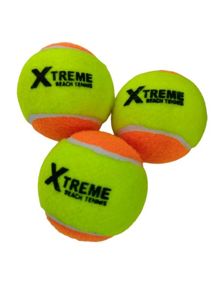 Bola Soft 2 Laranja Xtreme  -  3 unidades